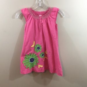 Mini Boden pink floral summer dress
